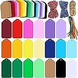 Demine 253 Pcs 20 Colores Etiquetas De Regalo con Agujero, Etiquetas de árbol de Deseos, Etiquetas de Papel para Fiestas Favores Fiesta Bricolaje
