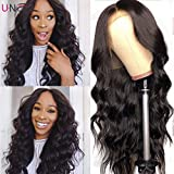 UNice 13x6 Body Wave Lace Front Human Hair Wigs Free Part, Unprocessed Brazilian Virgin Hair Wig, Pre Plucked Natural Hairline with Baby Hair 150% Density­ (20'')