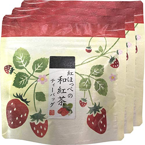国産 静岡県産 紅ほっぺ(いちご)の和紅茶 10g(2g×5)×3袋セット