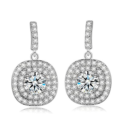 Alex Perry Christmas Jewelry Gifts Earrings for Women, Gloring Drop Dangle Earrings with White Cubic Zirconia, Birthday Gifts for Women, Jewelry Gift Box Packing