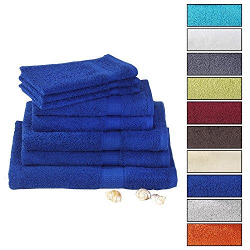 CARO-Möbel Handtuch Gästetuch Badetuch PACO, in Royalblau 50 x 100 cm Frottee Qualität 100% Baumwolle