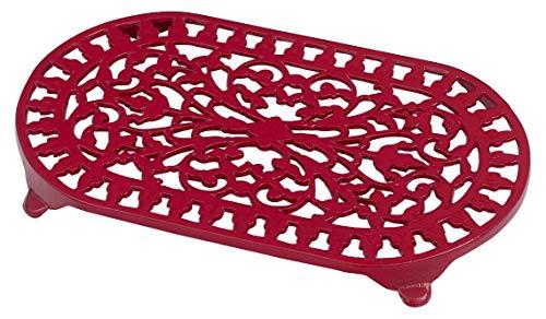 Victor Dessous de Plat Ovale Traditionnel, Rouge
