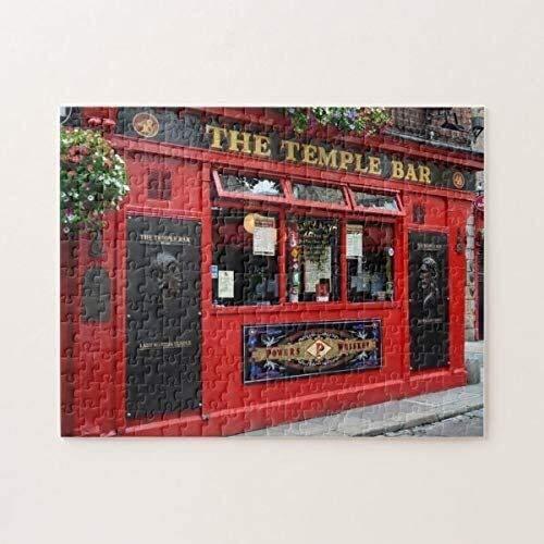 Red Temple Bar Pub En Dublin Jigsaw Puzzles 1000 Piezas, Rompecabezas Desafiantes Y Educativos Juguetes, Pintura Abstracta para Niños Adultos Día de San Valentín Presente