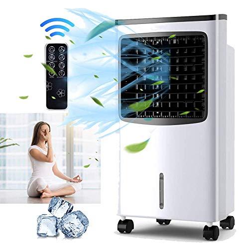 sjdxd Tragbarer 3-in-1-Verdampfungsluftkühler mit Lüfterhitzer, Luftbefeuchter und Luftreinigerfunktionen, 3 Lüftergeschwindigkeiten mit Schwingung