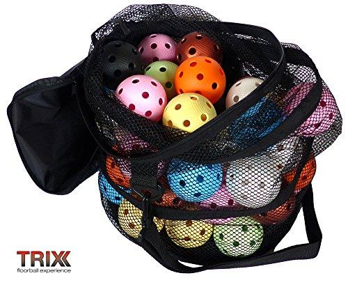 TRIX Floorball Team-Set - 50 Bälle Color Mix mit IFF Zertifizierung und Tasche