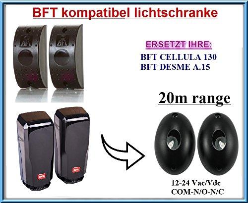 BFT CELLULA 130 / BFT DESME A.15 kompatibel lichtschranke, paare von äußere universale Fotozellen / Infrarot IR Sicherheit Sensor 12 -24 Vac/Vdc, NO/NC. Reichweite: bis 20m!!!