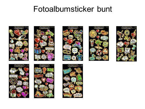 Original Fotosticker Fotoalbum Foto Sticker XXL Set - 270 Teile