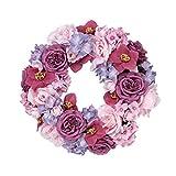 Dekokranz Maila - Blütenkranz - Rosa Pink - ca. Ø