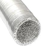 Manguera de Aluminio del conducto de aire de ventilación Ø150mm | Tubo flexible 10m resistente al calor de eyepower