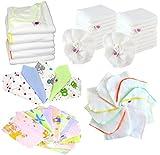 Babymajawelt Baby Starter Paket Stofftücher 50 tlg Mulltücher Spucktücher Molton Waschlappen