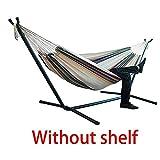 rwu0 Canvas Hammock 200x150cm Sleeping Home Indoor Outdoor Camping Stripe Thicken Widened Garden...