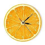vvff Naranja Limón Frutas Acrílico Reloj De Pared Lima Pomelo Cocina Moderna Reloj Reloj Decoración para El Hogar Fruta Tropical Fresca Arte De Pared Reloj