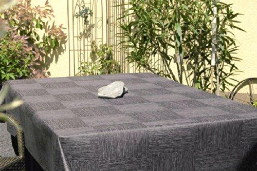 ODERTEX Garten-Tischdecke ABWASCHBAR mit Acryl und BLEIBAND, Form und Größe sowie Farbe wählbar, Maße: 120x160 cm Eckig anthrazit-grau New York