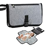 Funbliss Portable Changing Pad - Premium Quality Travel Station - Diaper Baby Clutch Kit