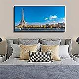 Pariser Landschaft mit blauem HimmelWandkunst Poster