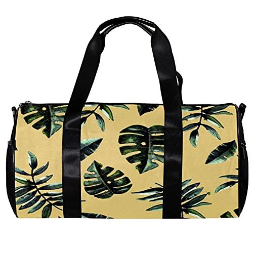 Bolsa de viaje para mujeres hombres beige hoja otoño deportes gimnasio bolsa bolsa de viaje de fin de semana al aire libre bolsa de equipaje