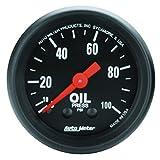 AUTO METER 2604 Z-Series Mechanical Oil Pressure Gauge, 2-1/16' (52.4mm)