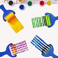 Pennelli Spugna per Pittura per Bambini Early Learning Kids Set 48 Pezzi tra Cui spugnetta, Pennello per Fiori, Grembiule Impermeabile a Manica Lunga e 26 Lettere, Giocattolo fai da te per età 3-6 #4