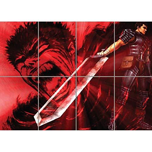 Berserk Guts Poster - Manga Giant Art Print B617