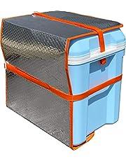 アストロ 日よけパネル クーラーボックス用 シルバー アルミ蒸着 3層構造 遮熱効果 611-80 中