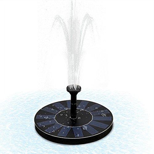 Hihey Fontein op zonne-energie aangedreven Bird Bath fonteinpomp 1,4 W zonnepaneel kit waterpomp outdoor irrigatie dompelpomp voor vijver zwembad tuin aquarium