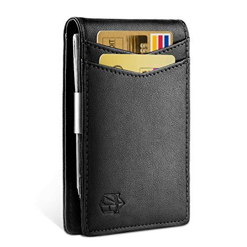 Zitahli Money Clip Slim Wallet-Minimalist Bifold Front Pocket Wallet for Men,Card Holder Effective RFID Blocking