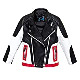 Budermmy Boys Leather Motorcycle Pilot Jackets Toddler Coats (2-3 Year, Black and White)