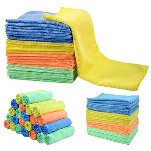 MASTERTOP Mikrofaser-Reinigungstücher (40 x 30 cm, 4, 24 Stück), Putztücher Multifunktionale Lappen für Haushalt, Küche, Auto stauben