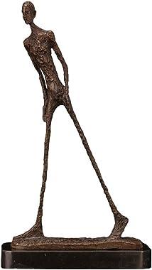 Walking Man Statue Sculpture by Giacometti Bronze Replica Vintage Collectible Art Figurine Home Decor