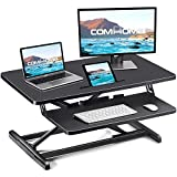 ComHoma Standing Desk Converter Adjustable Height 34 Inch Sit to Stand up Desk Riser for Home Office Ergonomic Tabletop Workstation with Keyboard Mouse Deck