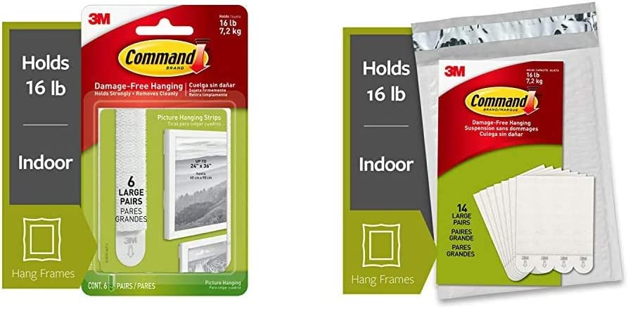 Command Picture Frame Hanging New arrival Strips Selling and selling Large 4 6-Strip White