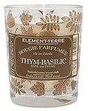 Element Vela perfumada de 200 gramas, 50 Horas, Aroma de tomillo albahaca, no aplicable