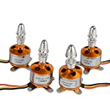 Xiangtat 4pcs A2212/ 10t 1400kv Brushless Outrunner Motor for Rc Glider Helicopter Aircraft Multi-copter Quadcopter