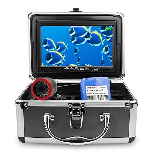 ZSHXF Portátil de 7inch Monitor de Pulgadas 1200TVL Equipo de Cámara de Pesca Submarina Impermeable LED Infrarrojos Buscador de Peces