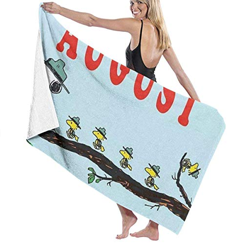 asdew987 Sn-oo-p-y Welcome August - Toallas de baño, de secado rápido, muy absorbentes, multiusos, toallas de playa, toallas de piscina, 31 x 51 para mujeres y hombres