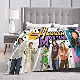 Hannah Montana Ultra-Soft Micro Fleece Blanket Throw Blanket Flannel Blankets for Bed Sofa Couch Camp, 50x40 in