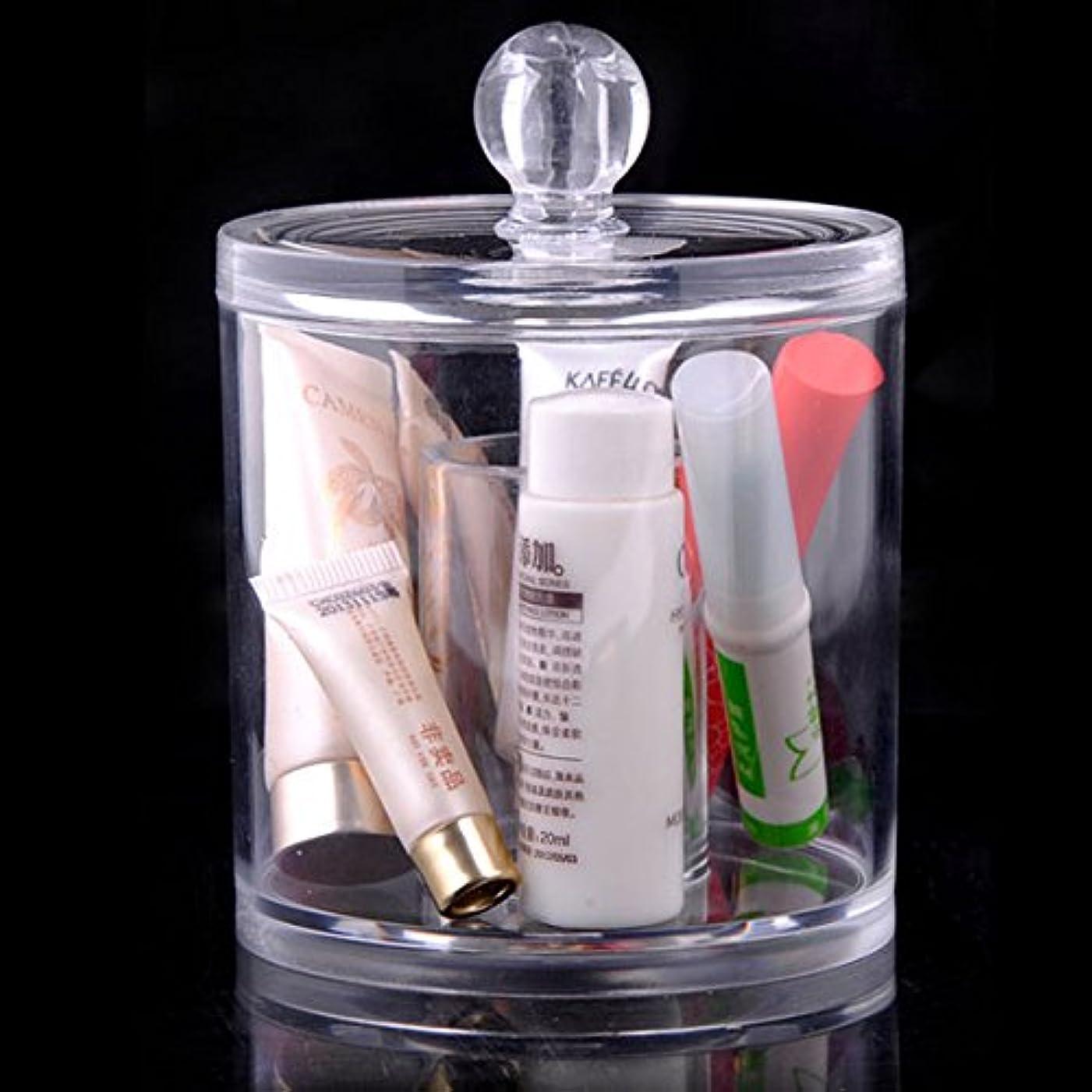 干し草個人阻害するYumbyss - 1個のアクリル透明なメイクアップ化粧品主催クリスタルプラスチックリップスティック香水サンプルストレージボックスメイクアップ香水ジュエリーボックス