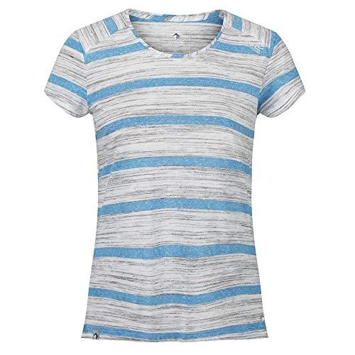 Regatta T-Shirt Technique rayé Manches Courtes Limonite IV léger et Respirant, Bleu (Blue Aster), FR: 36 (Taille fabricant: XS)