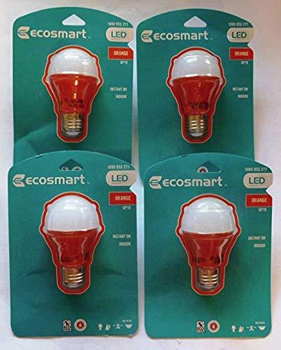 4 Pack - LED 25 W Orange GP19 Light Bulb - Last 9+ Years