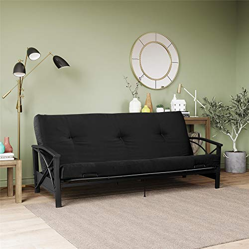 DHP 6' Polyester Filled, Full Size, Black Futon Mattress