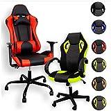 ZStyle Sedia Poltrona da Gaming per Ufficio Videogiochi reclinabile Imbottita ergonomica scrivania Computer Playstation RTX GTX (GTX, LED RGB)
