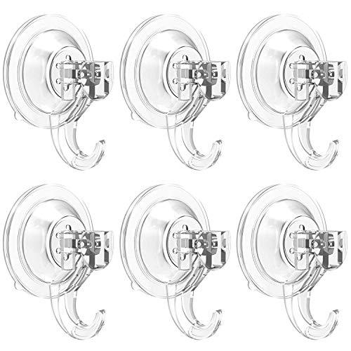 Elegear Gancho Ventosa Super Fuertes Resistente Gancho Colgador Soporte 5kg para Puerta Cocina Baño Perchas (2 Pack)
