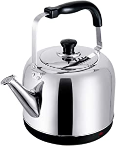 ZOUJUN Electric Kettle, Electric Gooseneck Kettle Pour Over Kettle for Coffee or Tea 5L Fast Heating Stainless Steel Water Kettle with Boil Dry Protection Automatic Shutoff