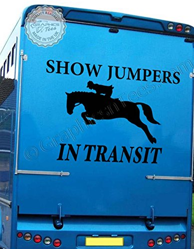 Graphics 'n' Tees - Pegatina decorativa para cuadro de caballos en tránsito con texto en inglés