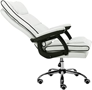 Silla de oficina de cuero, cuero Ejecutivo, giratorio, silla de escritorio de oficina ajustable con ruedas, silla de escritorio de computadora ejecutiva, silla ergonómica de computadora con almohada