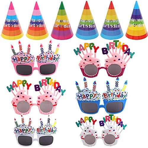 6 PCS Happy Birthday Hats and 6 PCS…