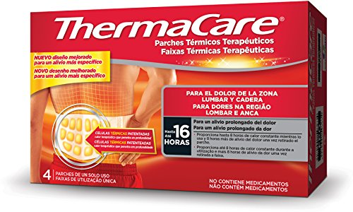THERMACARE Parche Térmico Terapéutico - 4 parches - Para el Dolor Lumbar...
