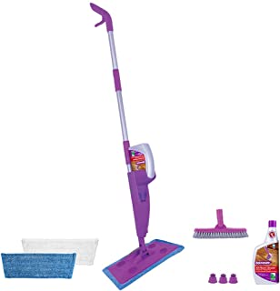Rejuvenate Click N Clean Multi-Surface Spray Mop System Complete Bundle Includes Free Click-On Pro Grade Grout Brush 2 x R...