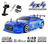 HSP 4wd RC Car 1:10 On Road Touring Drift Two Speed Nitro Power Vehicle(Blue)