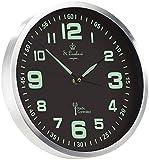 St. Leonhard Funkwanduhr: Funk-Wanduhr mit Quarz-Uhrwerk, nachleuchtenden Ziffern und Zeigern (Leuchtende Wanduhr)